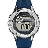 Tekday - 655867 - Montre Homme - Quartz Digital - Cadran Noir - Bracelet Plastique Bleu