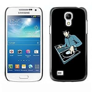 YiPhone /// Prima de resorte delgada de la cubierta del caso de Shell Armor - Space Guy Dj - Samsung Galaxy S4 Mini i9190 MINI VERSION!