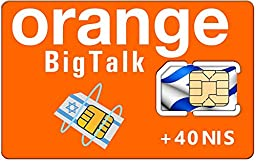 Orange Israel Prepaid SIM Card for Israel preloaded with 40 NIS