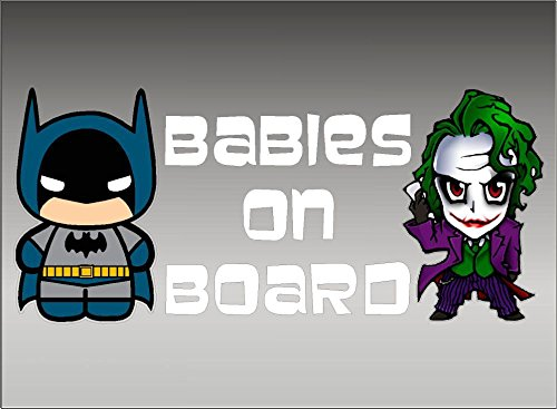 DC+Comics Products : Batman and Joker Babies on Board / DC Comics Batman / Vinyl Vehicle Decal Kids Graphic Stickers