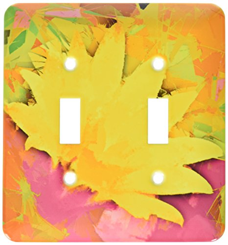 3dRose lsp_32387_2 Decorative colorful garden botanic plant SW Southwest Desert cactus yellow gold red flower abstract Toggle Switch