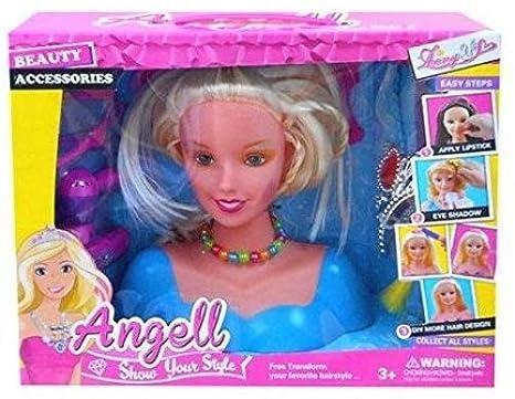 2x Angell Hair Styling Head Dream Fashion Hair Dressing Doll Toy Girl Xmas Gift