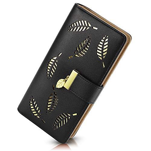 PGXT Women's Long Leather Card Holder Purse Zipper