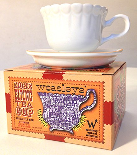 Harry Potter Weasley's Wizard Wheezes Nose Biting Tea Cup and Saucer