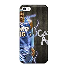 Rugged Skin Case Cover For Iphone 5/5s- Eco-friendly Packaging(carmelo Anthony)