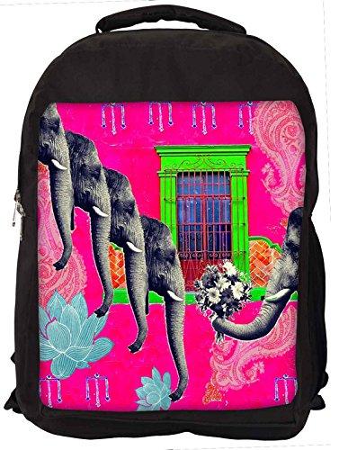 Snoogg Elephant LoverLaptop Rucksack Gelegenheitsschulrucksack