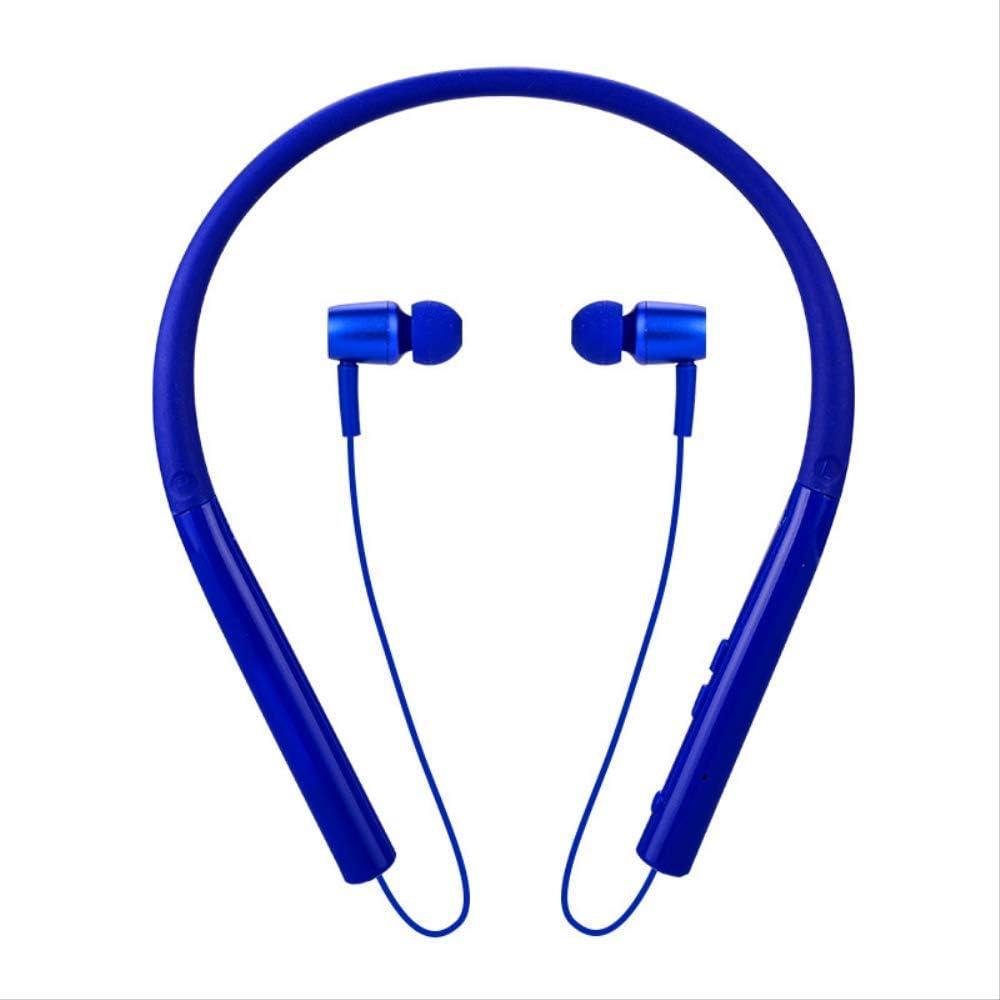 HAOSHUAI Wireless Bluetooth Headphones Extra lang stand-by sport lopen zweetbestendig halsaansluiting stereo naar oor blauw (wit), Zwart blauw