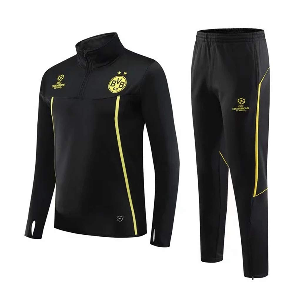 Suit,L: Children + Adults Suitable for Everyones Sweatshirt Football Training Wear Dortmund Autumn and Winter Long-Sleeved Sportswear 50〜55KG 165〜170CM
