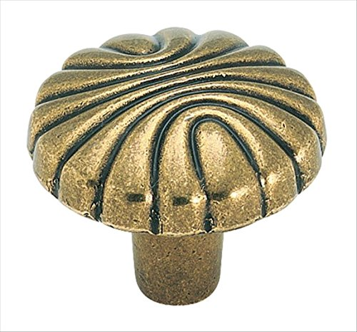 Amerock BP1337O77 Natural Elegance 1-1/4 in (32 mm) Diameter Burnished Brass Cabinet Knob