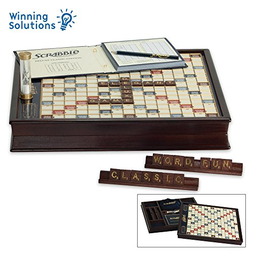 Winning Solutions  Scrabble Deluxe Wooden Edition with Rotating Game Board by Winning Solutions