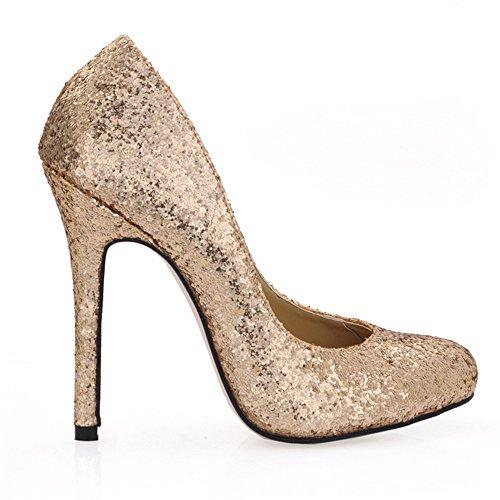 Alto El Barnizado Jefe Zapatos Light Primavera Golden Cuero La Ronda Negro Slice De Talón The Fine Sabor qXAnxASw0P