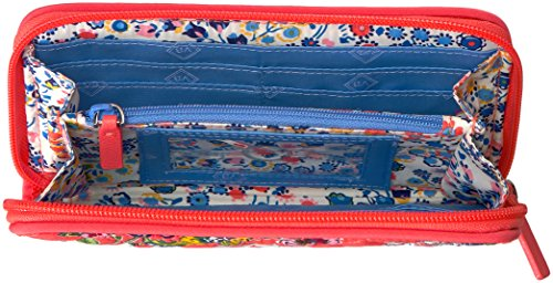 Vera Bradley Women's RFID Turnlock Wallet-Signature, Coral Floral, One Size by Vera Bradley (Image #4)