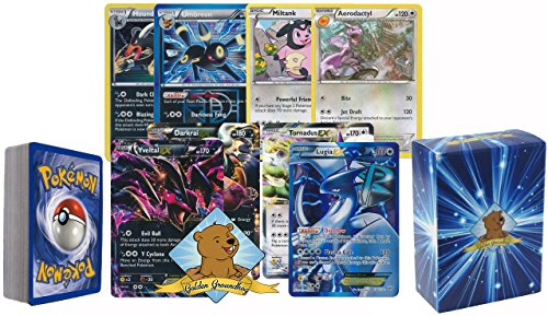 Goldengroundhog All Dark And Colorless Type Pokemon 40 Assorted Card Pack With 2 Random Pokemon Ex Cards  Rares  Energy  Foils And 3 Custom Golden Groundhog Token Counters