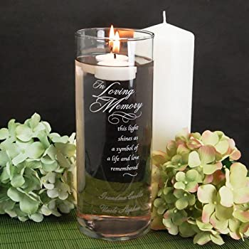 In Loving Memory Glass Cylinder