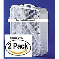 20 x 20 MICROFIBER BOX FAN FILTERS - 120 DAY FILTRATION (SET OF 4)