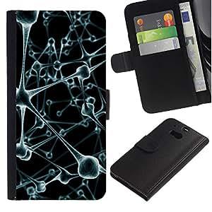 Be Good Phone Accessory // Dura Cáscara cubierta Protectora Caso Carcasa Funda de Protección para HTC One M8 // Virus Cell Blood Stems