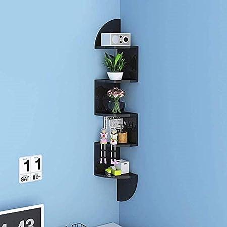 meuble de rangement étagères Kit Lot de 2 brillant Flottant Coin étagère murale