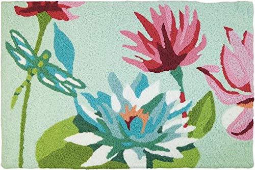Jellybean Water Lillies Floral Indoor/Outdoor Machine Washable 21