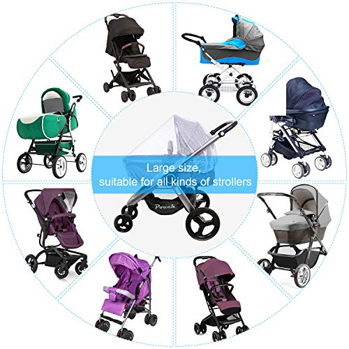 Victarvos Baby Pram Net, Mosquito Net for Pushchair, Pram, Travel Cot, Car Seat, Strollers, Cribs, Baby Bouncers, Play Pen