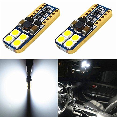 Alla Lighting CAN-BUS - Bombillas LED de repuesto para foco LED de alta potencia 3030 SMD, sin errores, T10 cuña 194 168...