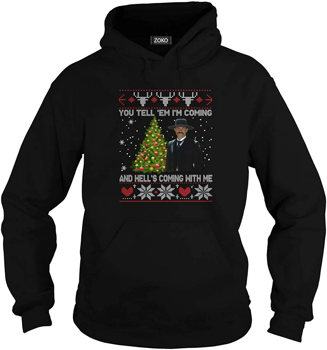 You Tell Em Im Coming and Hells Coming with Me Ugly Christmas T-Shirt