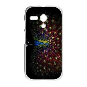Motorola Moto G Phone Cases White Vintage Collage Peacock FAL970088