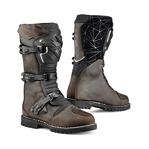 TCX Drifter Waterproof Touring Adventure Motorcycle Boots - Vintage Brown 41