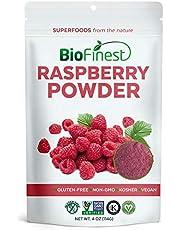 BioFinest Raspberry Juice Powder - 100% Pure Freeze-Dried Antioxidants Superfood - Usda Certified Organic Kosher Vegan Raw Non-Gmo - Boost Digestion Weight Loss - For Smoothie Beverage Blend