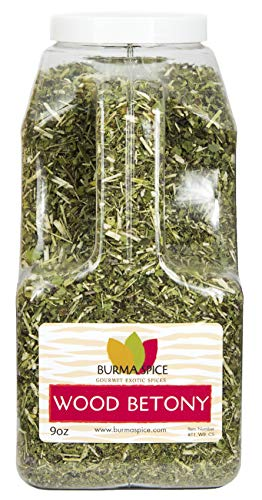 Wood Betony : Herbal Tea : Dry Herb Natural Kosher (9oz.) (Caps 100 Singles Herbal)