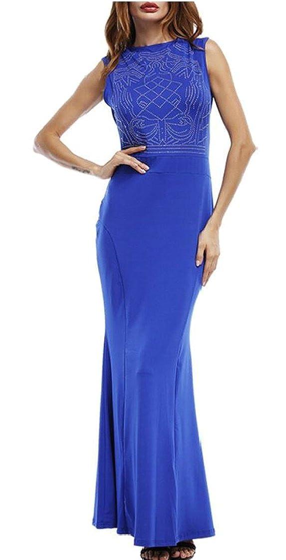 M/&S/&W Womens Sleeveless Long Mermaid Dress Prom Gown Bodycon Maxi Dress