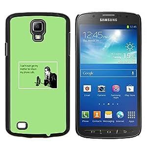 """Be-Star Único Patrón Plástico Duro Fundas Cover Cubre Hard Case Cover Para Samsung i9295 Galaxy S4 Active / i537 (NOT S4) ( Madre Tecnología Relaciones Cita"""" )"""