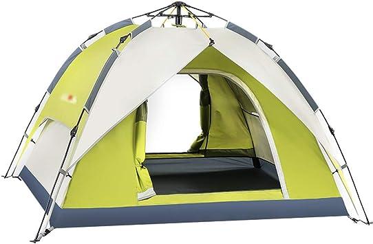 WJP Carpas Tiendas de campaña para Acampar Tienda de campaña Coleman Tienda de campaña automática al Aire Libre Doble de Doble Capa Que acampa a Prueba de Lluvia Carpa sombrilla automática: Amazon.es: