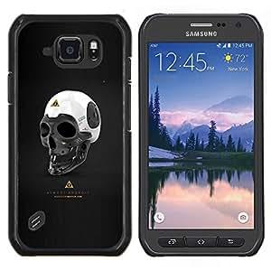 Casi Android- Metal de aluminio y de plástico duro Caja del teléfono - Negro - Samsung Galaxy S6 active / SM-G890 (NOT S6)