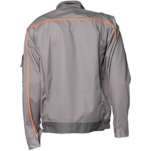 Planam 2410058 Visline V1 Blouson de travail Taille 58 en Zinc/Orange/Ardoise