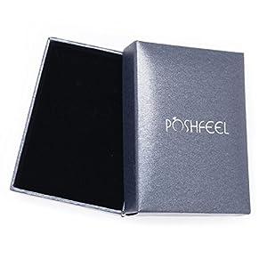 """POSHFEEL 8mm Black Onyx Stone Micro Pave CZ Zirconia King Crown Charm Stretch Bracelet for Men,7.5"""""""
