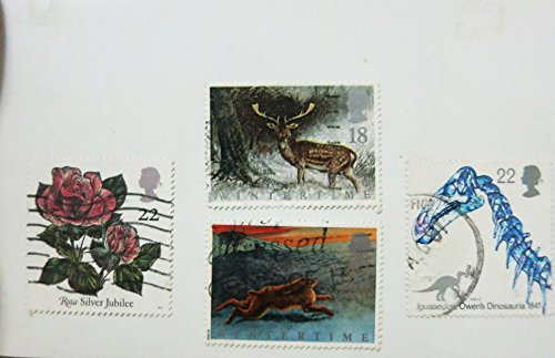 British Postage Stamps - Vintage British Postage Stamps for crafts, mail art, scrapbooking, card making, used cancelled