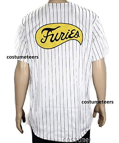 Furies Style Striped Baseball Jersey Shirt Costume T-Shirt -