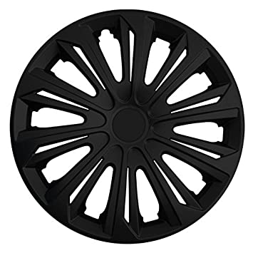(tamaño a elegir) Tapacubos/Tapacubos Strong (Negro) apto para casi todos los tipos de vehículos (universal): Amazon.es: Coche y moto