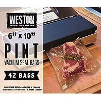 Weston Vacuum-Sealer Food Bags, 100 Count