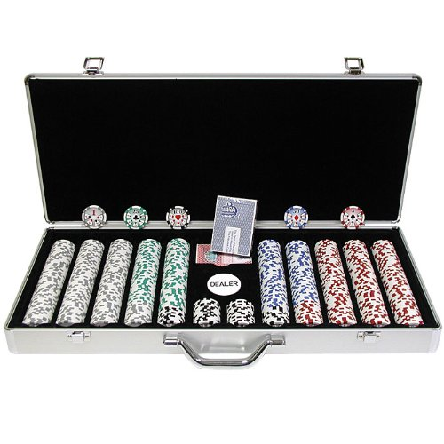 Trademark 650 Chip 11.5g High Roller Set with Executive Aluminum Case (Silver)