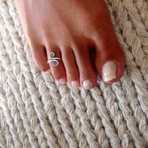 Foot Ring Adjusable Toe Ring Beach Jewelry Silver Toe Ring Toe Ring Summer Jewelry Foot Accessories T42S Foot Jewelry