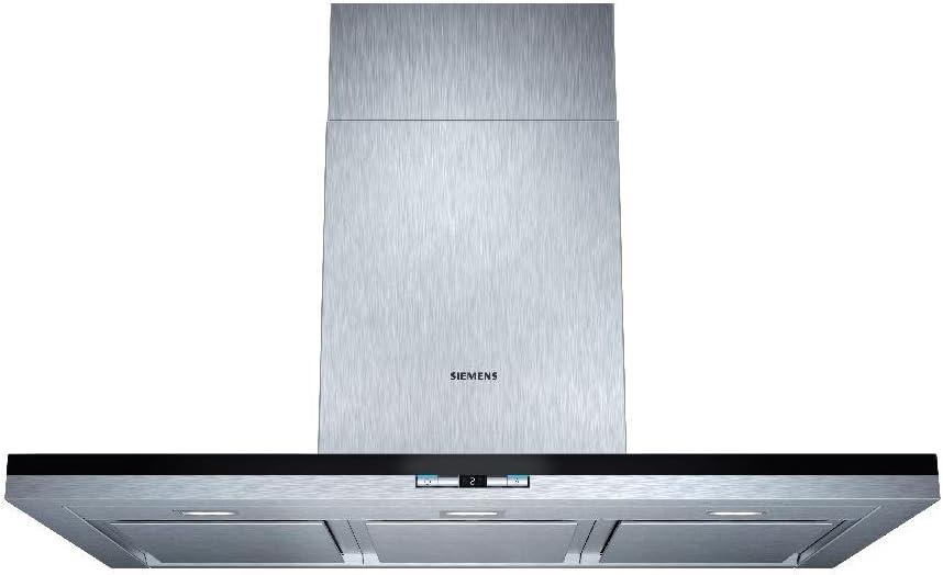 Siemens LC98BA542 - Campana (Canalizado, 740 m³/h, 57 Db, Montado en pared, LED, Negro, Acero inoxidable): Amazon.es: Hogar