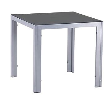 Mandalika Garden Hochwertiger Aluminium Gartentisch Luna Silber Mit