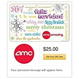 AMC Theatres Feliz Navidad Gift Cards - E-mail Delivery
