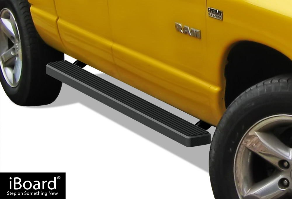APS IBDZ5997 Black 4' Running Board Side Step (iBoard Third Generation Selected Dodge Ram 1500/2500/3500 Quad Cab, Aluminum)