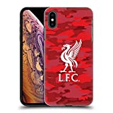 Official Liverpool Football Club Home Colourways Liver Bird Camou Hard Back Case for iPhone Xs Max