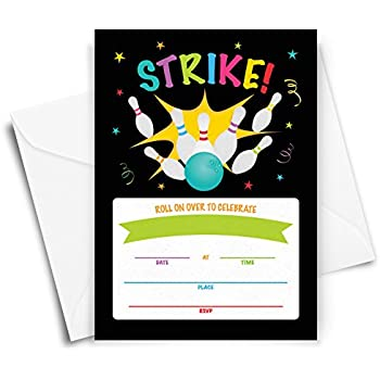 bowling party invitation 20 invitations and envelopes bowling birthday party invitations ideas
