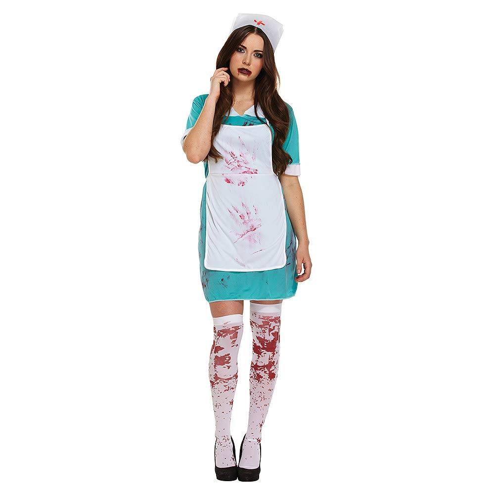 LADIES ZOMBIE NURSE BLOODY HALLOWEEN FANCY DRESS COSTUME OUTFIT THE WALKING  DEAD SCRUBS CHEAP 00337  Amazon.co.uk  Toys   Games 40341aa44