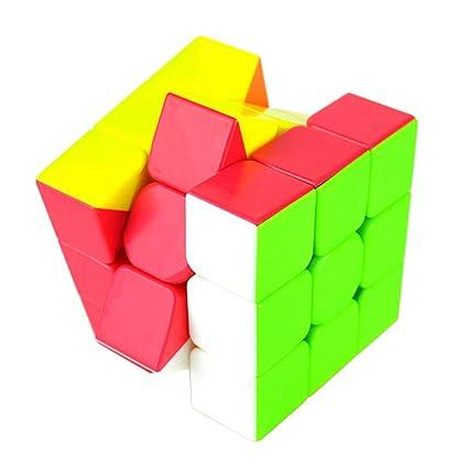 Alician Colorful Speed Magic Cube Puzzle Finger Toy 5.7x5.7x5.7cm Random Color