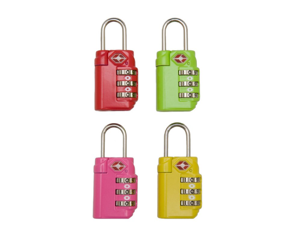 Inventive Travelware TSA Accepted Travel Lock 12pc Bulk (Multi)